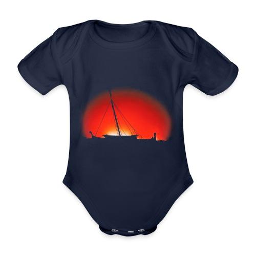 Bear Sunset - Organic Short-sleeved Baby Bodysuit