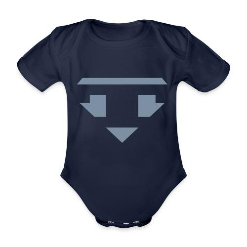 Twanneman logo Reverse - Baby bio-rompertje met korte mouwen