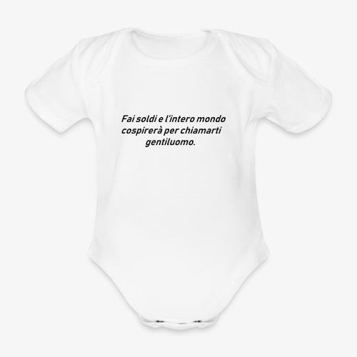 RICCHEZZA - Body ecologico per neonato a manica corta