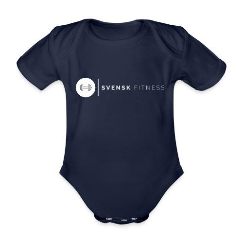 Vit vertikal logo dam - Ekologisk kortärmad babybody