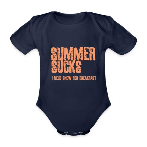 SUMMER SUCKS - Baby bio-rompertje met korte mouwen