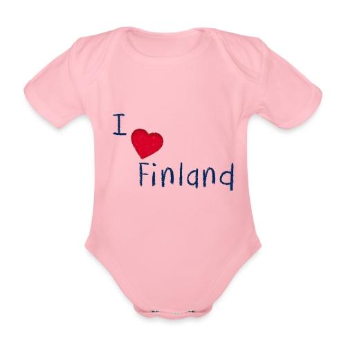 I Love Finland - Vauvan lyhythihainen luomu-body