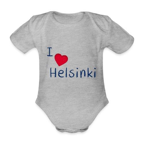 I Love Helsinki - Vauvan lyhythihainen luomu-body