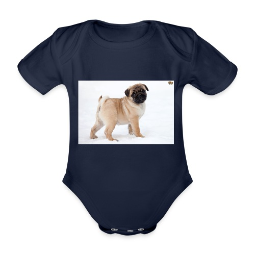 walker family pug merch - Organic Short-sleeved Baby Bodysuit