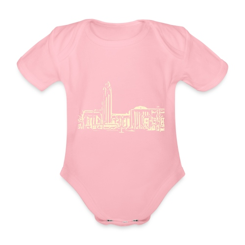 Helsinki railway station pattern trasparent beige - Organic Short-sleeved Baby Bodysuit