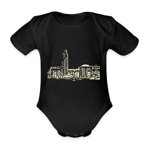 Helsinki railway station pattern trasparent beige - Organic Short-sleeved Baby Bodysuit