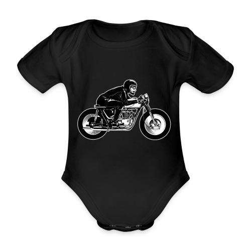 Cafe Racer 2c - Organic Short-sleeved Baby Bodysuit
