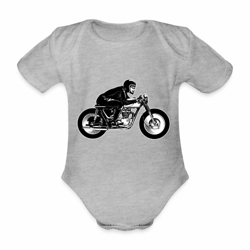 Cafe Racer 2c - Organic Short-sleeved Baby Bodysuit