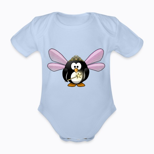 fairy tux - Organic Short-sleeved Baby Bodysuit