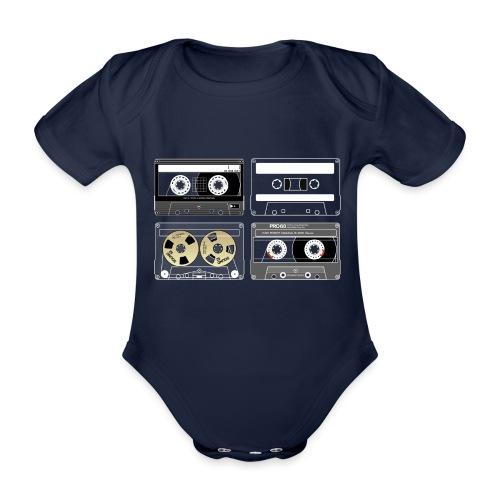 4 cassettes - Organic Short-sleeved Baby Bodysuit