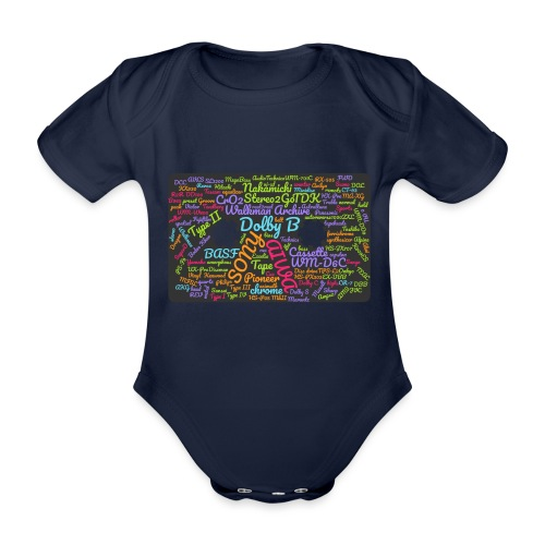 wordcloud Cassettes- WA - Organic Short-sleeved Baby Bodysuit