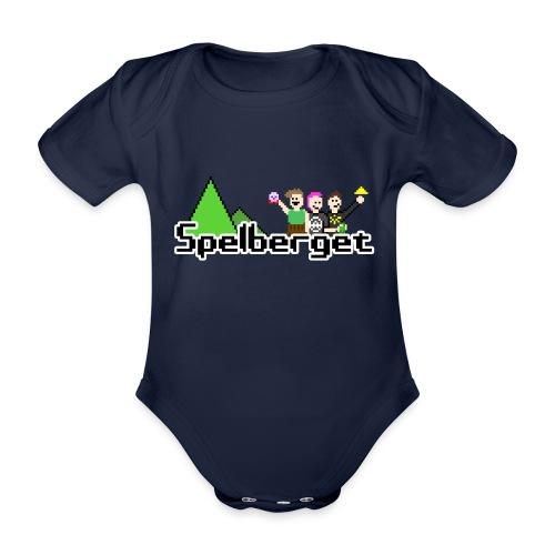Spelberget logo - Ekologisk kortärmad babybody