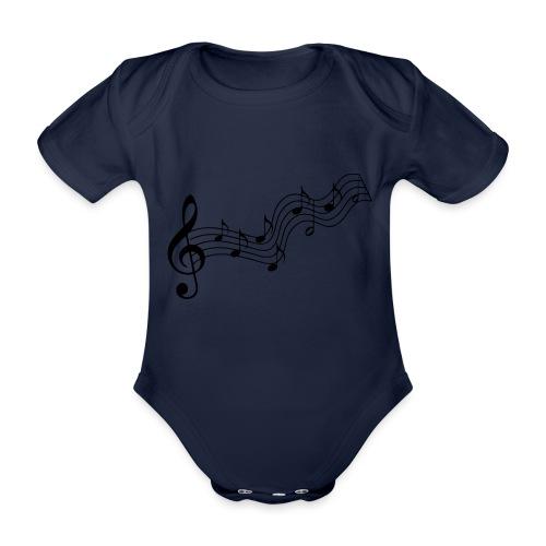 Musiknoten - Baby Bio-Kurzarm-Body