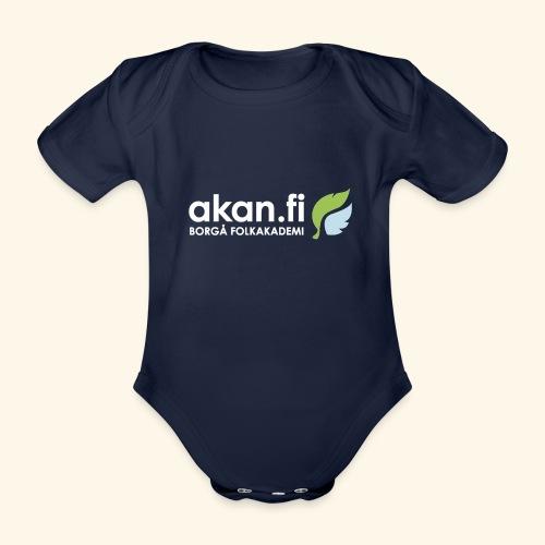 Akan White - Ekologisk kortärmad babybody
