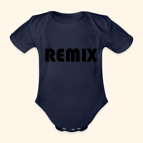 Remix - Body orgánico de maga corta para bebé