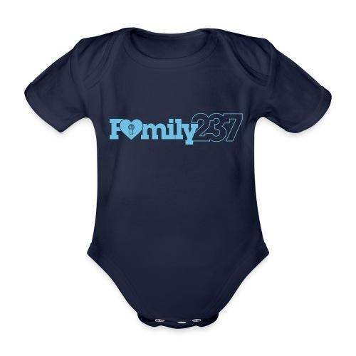 Family237 Blue - Organic Short-sleeved Baby Bodysuit
