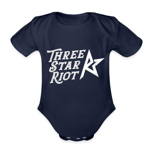 Three Star Riot logo vaalea - Vauvan lyhythihainen luomu-body