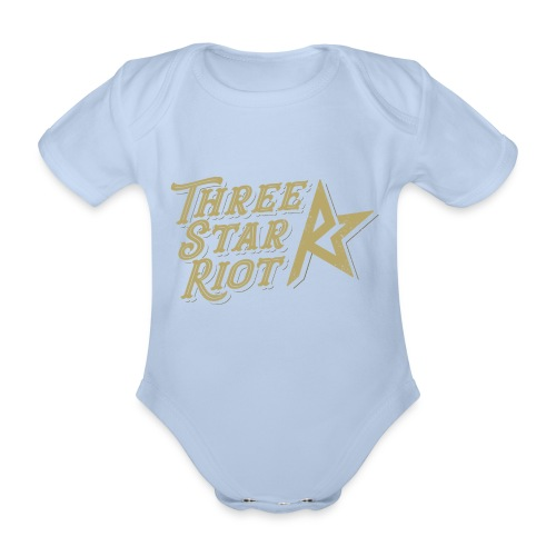 Three Star Riot logo väri - Vauvan lyhythihainen luomu-body