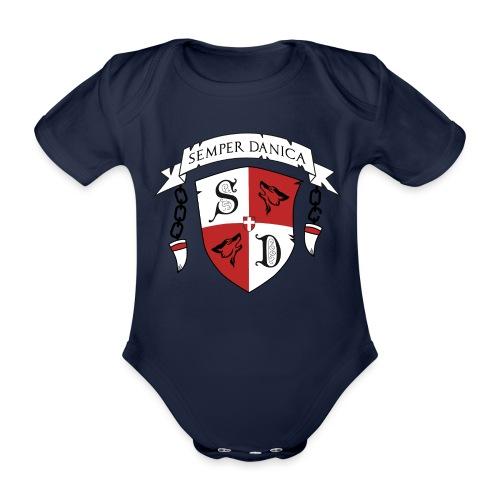 SD logo - sorte lænker - Kortærmet babybody, økologisk bomuld