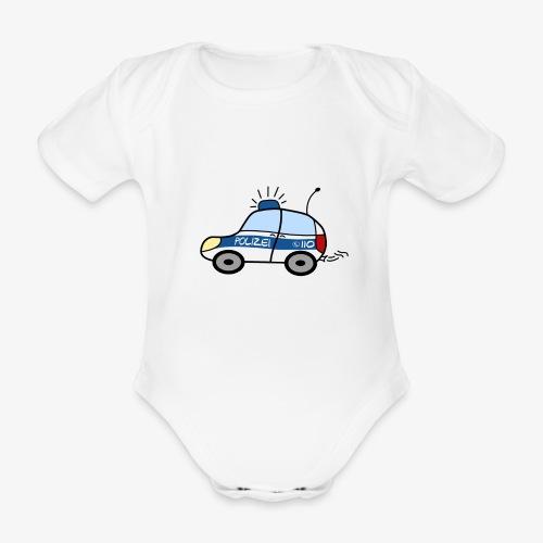 nachwuchs polizist weiss - Baby Bio-Kurzarm-Body