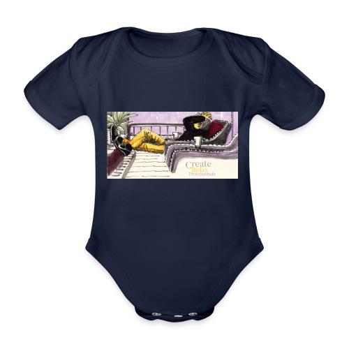 Work Relax Coffee Shop_St - Ekologisk kortärmad babybody