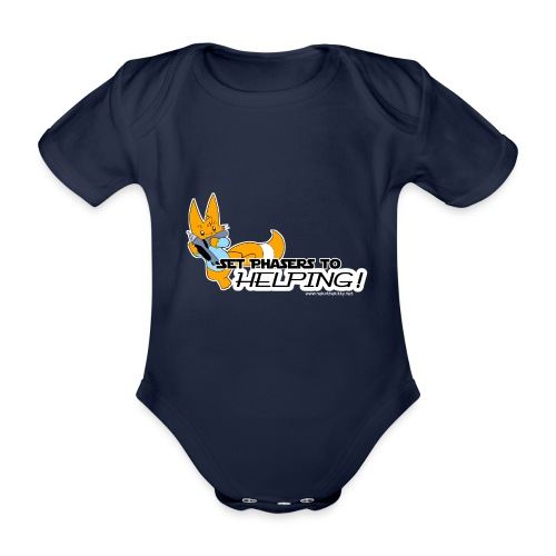 Set Phasers to Helping - Organic Short-sleeved Baby Bodysuit