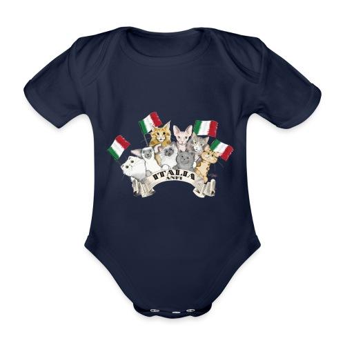Esposizione feline Italia - Body ecologico per neonato a manica corta