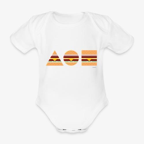 Graphic Burgers - Body ecologico per neonato a manica corta