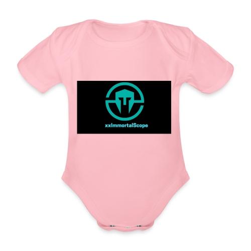 xxImmortalScope throwback - Organic Short-sleeved Baby Bodysuit