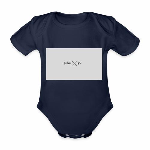 john tv - Organic Short-sleeved Baby Bodysuit