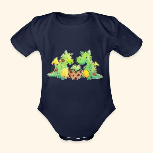 Drachenfamilie - Baby Bio-Kurzarm-Body