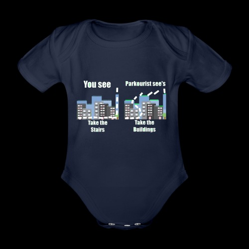 you see - Organic Short-sleeved Baby Bodysuit