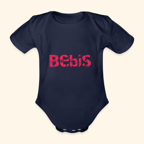 Bebis röd - Ekologisk kortärmad babybody