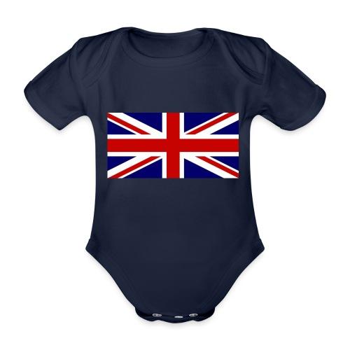drapeau anglais - Body Bébé bio manches courtes