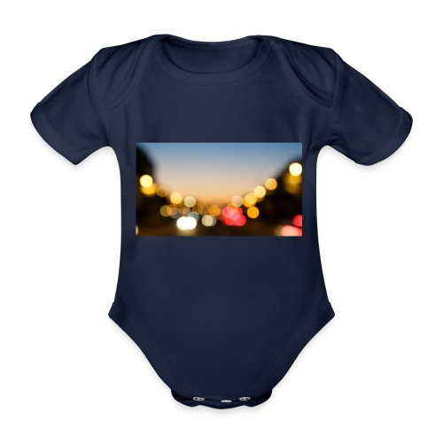 night - Body ecologico per neonato a manica corta