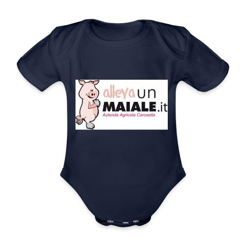 Allevaunmaiale.it con Azienda - Body ecologico per neonato a manica corta