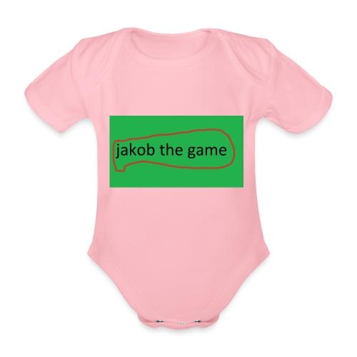 jakob the game - Kortærmet babybody, økologisk bomuld