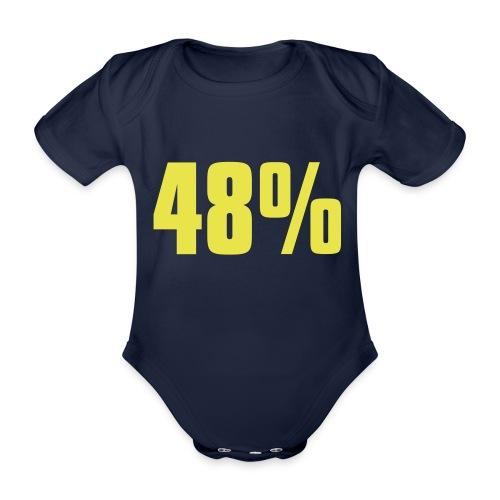 48% - Organic Short-sleeved Baby Bodysuit