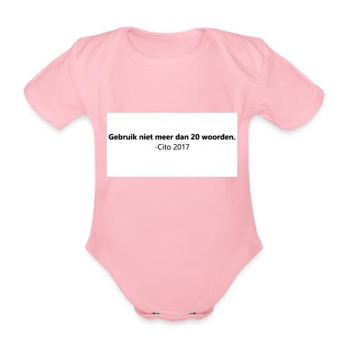 Gebruik niet meer dan 20 woorden - Baby bio-rompertje met korte mouwen
