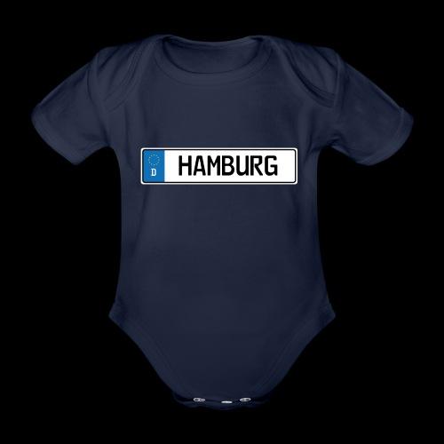 Kennzeichen Hamburg - Baby Bio-Kurzarm-Body