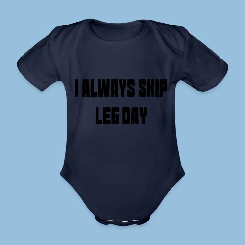 legday3 - Baby bio-rompertje met korte mouwen