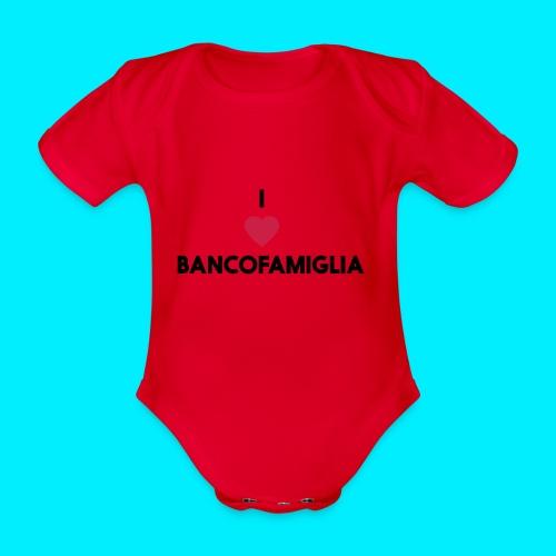 BANCOFAMIGLIA CuoreNera - Body ecologico per neonato a manica corta