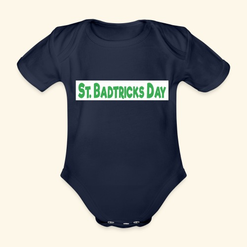 ST BADTRICKS DAY - Organic Short-sleeved Baby Bodysuit
