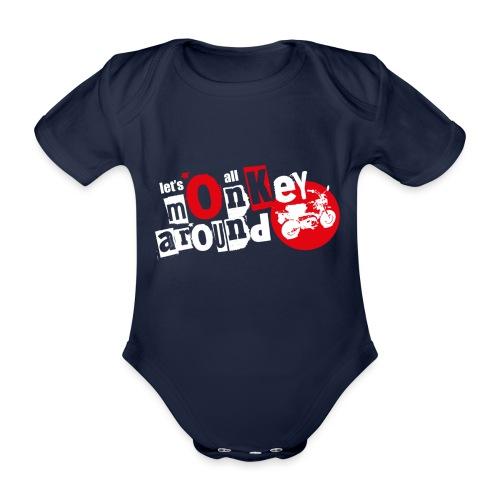 Monkey Around T-Shirt - Organic Short-sleeved Baby Bodysuit