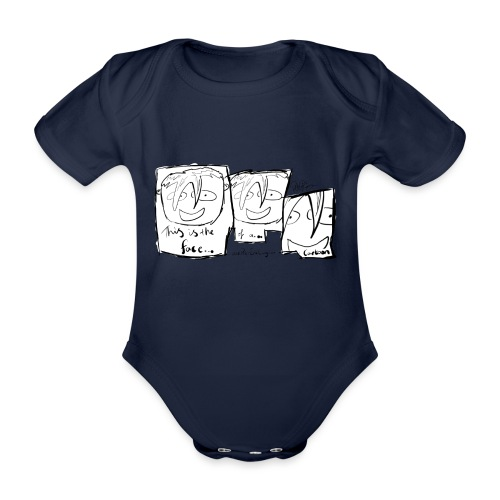 This Is The Face Comic | Peter Eric Lang - Organic Short-sleeved Baby Bodysuit