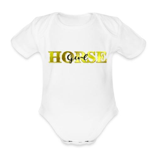 Horsegirl Reiten Pferde Geschenk - Baby Bio-Kurzarm-Body