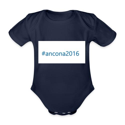 #ancona2016 - Body orgánico de maga corta para bebé