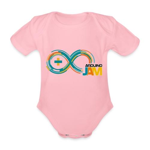 T-shirt Arduino-Jam logo - Organic Short-sleeved Baby Bodysuit