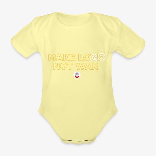 Make LOGO not WAR - Body ecologico per neonato a manica corta