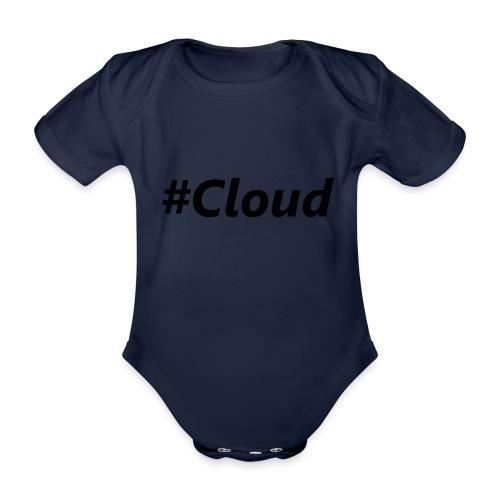 #Cloud black - Baby Bio-Kurzarm-Body